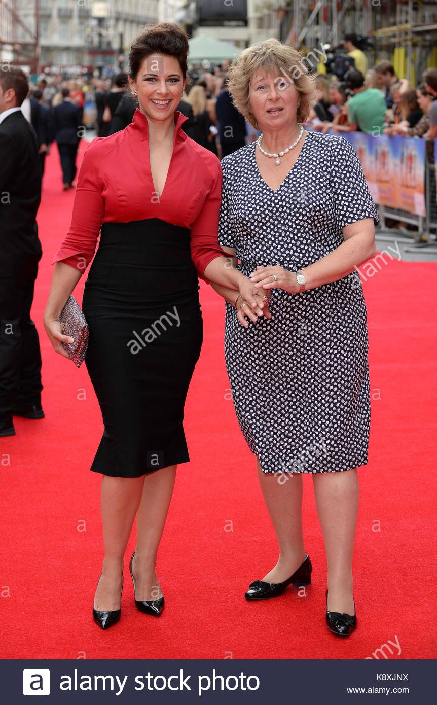 Belinda Stewart-Wilson and her mother. Various celebrities and cast members attend the world film premiere of 'The - Stock Image