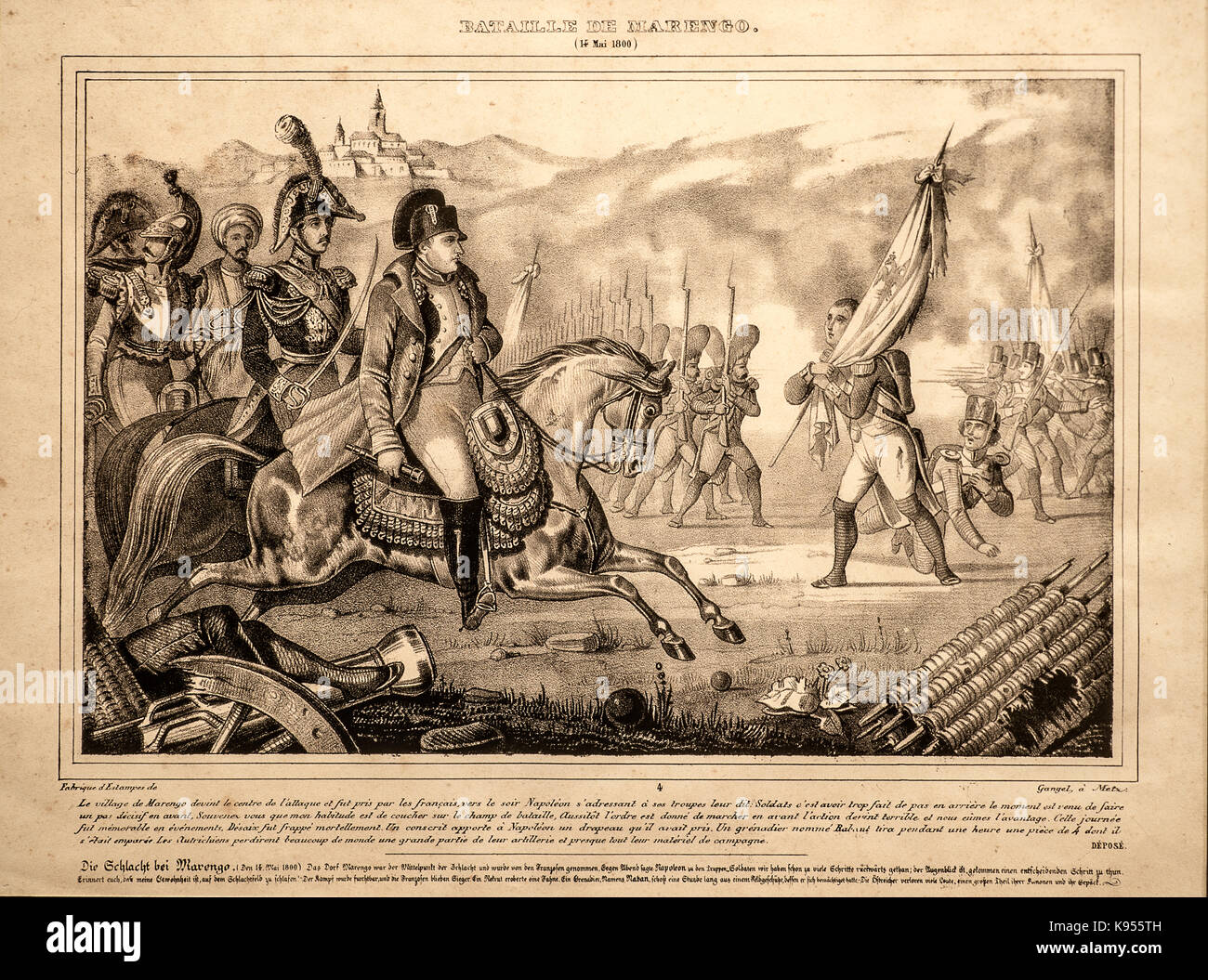 Italy Piedmont Marengo Battle Museum - The battle of Marengo - Stock Image