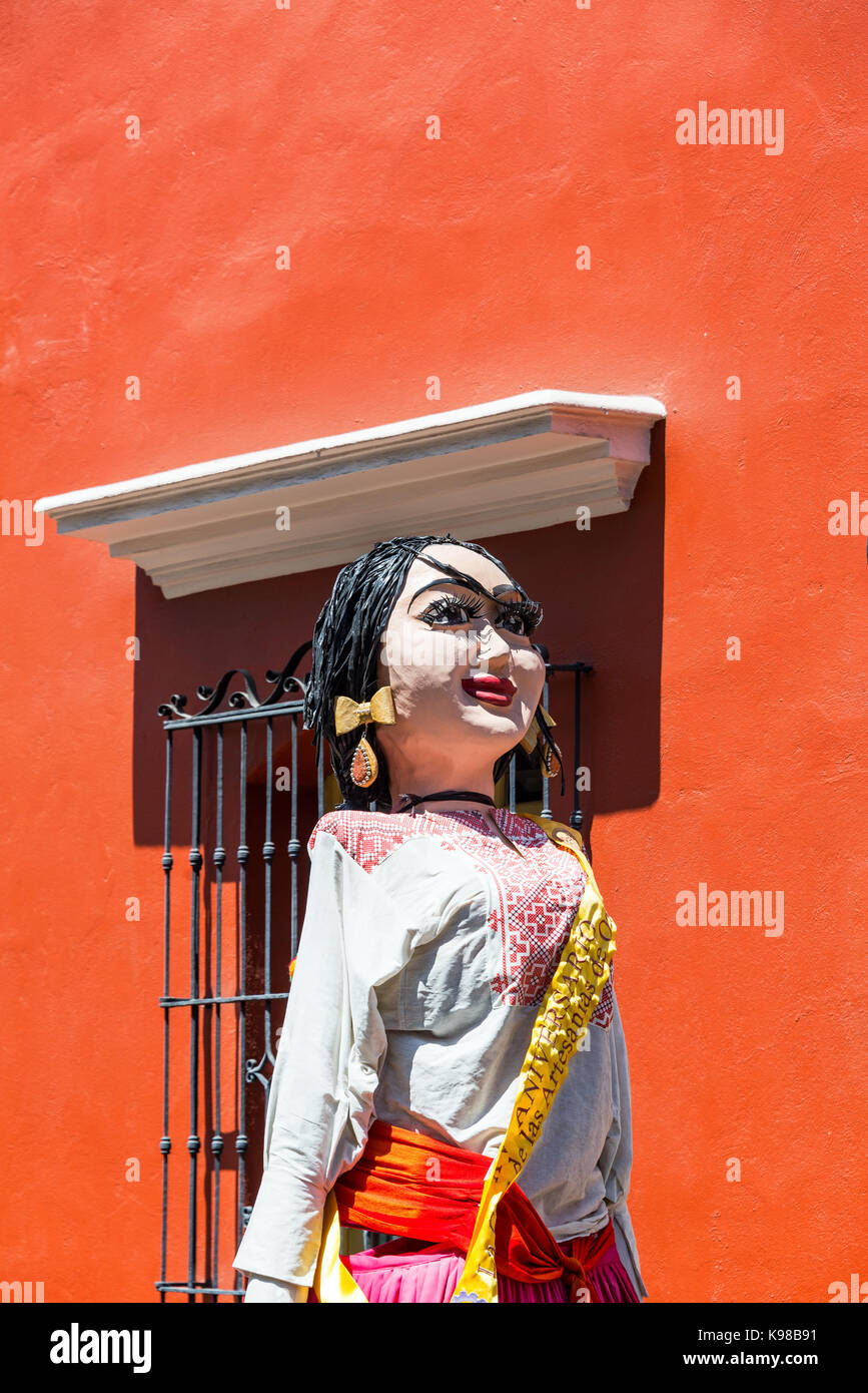 Paper mache person in Oaxaca, Mexico - Stock Image