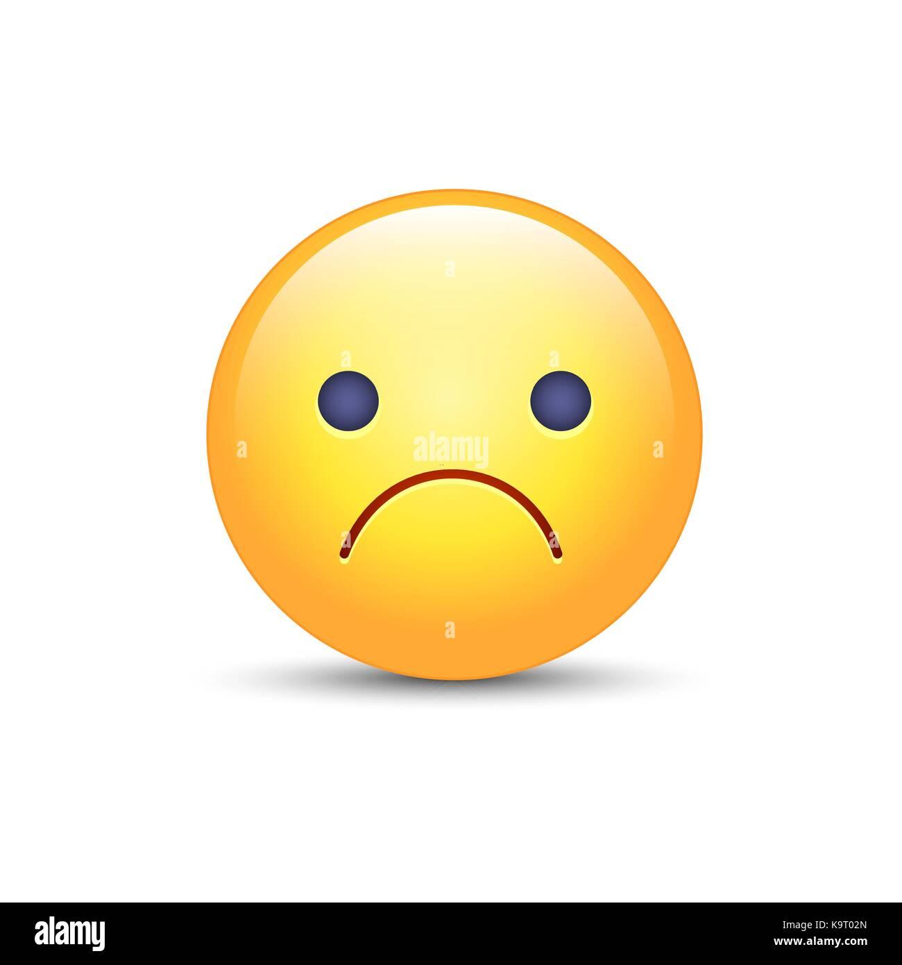 Worried vector cartoon emoji. Frustrated, distressed ... | 1300 x 1390 jpeg 59kB
