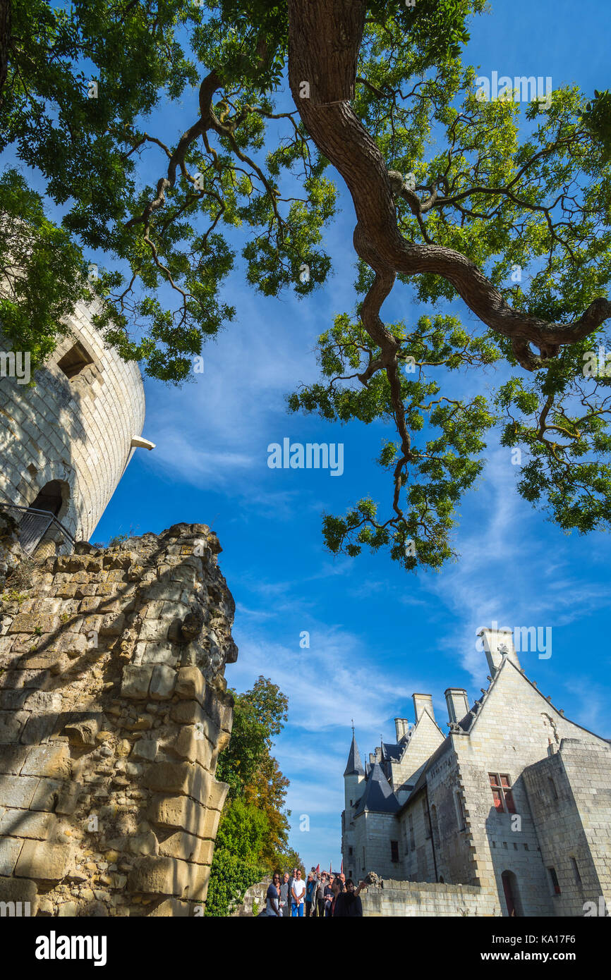 Chaueau Chinon, France. - Stock Image