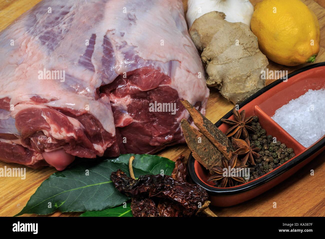 Leg of Lamb for a Sunday Roast - Stock Image