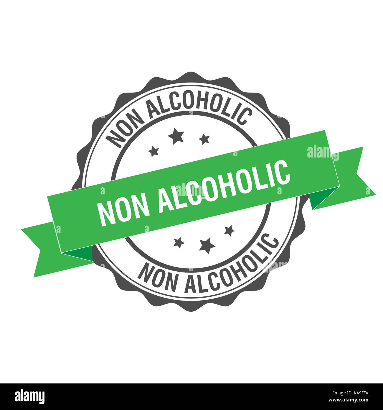 Non alcoholic stamp illustration - Stock Image