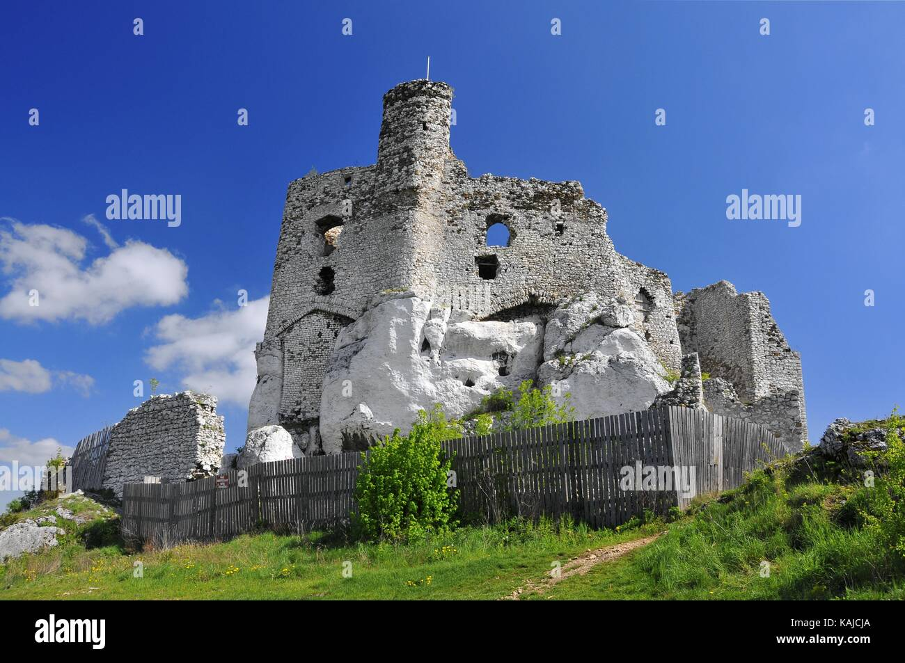Ruins Of 14th Century Castle Located In The Mirow Village Silesian Voivodeship Poland