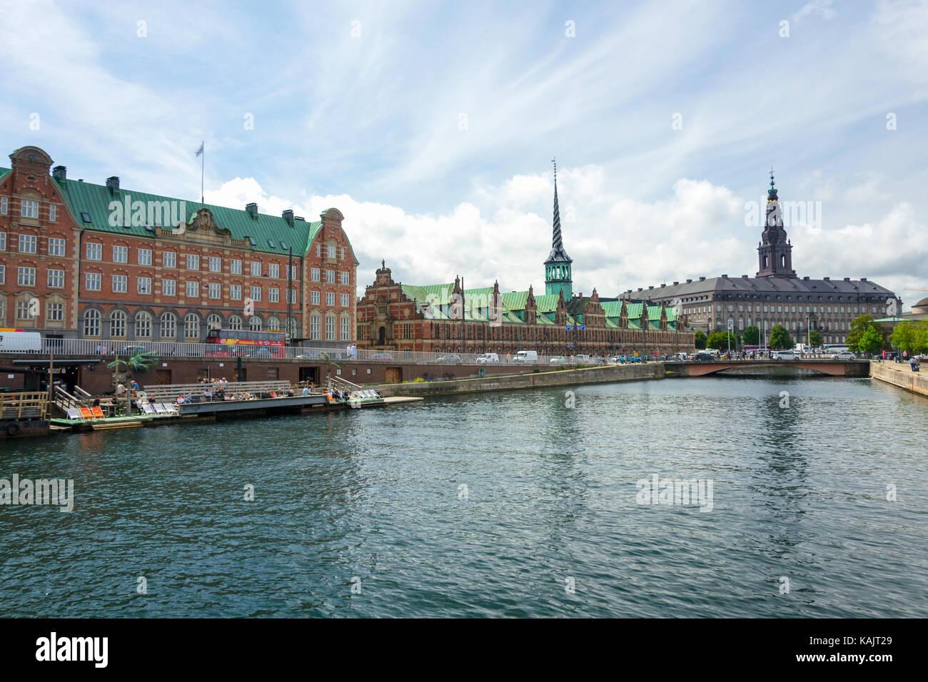 COPENHAGEN, DENMARK - July 24, 2017: Borsen; The Stock Exchange built in 17th century located in Børsgade street - Stock Image