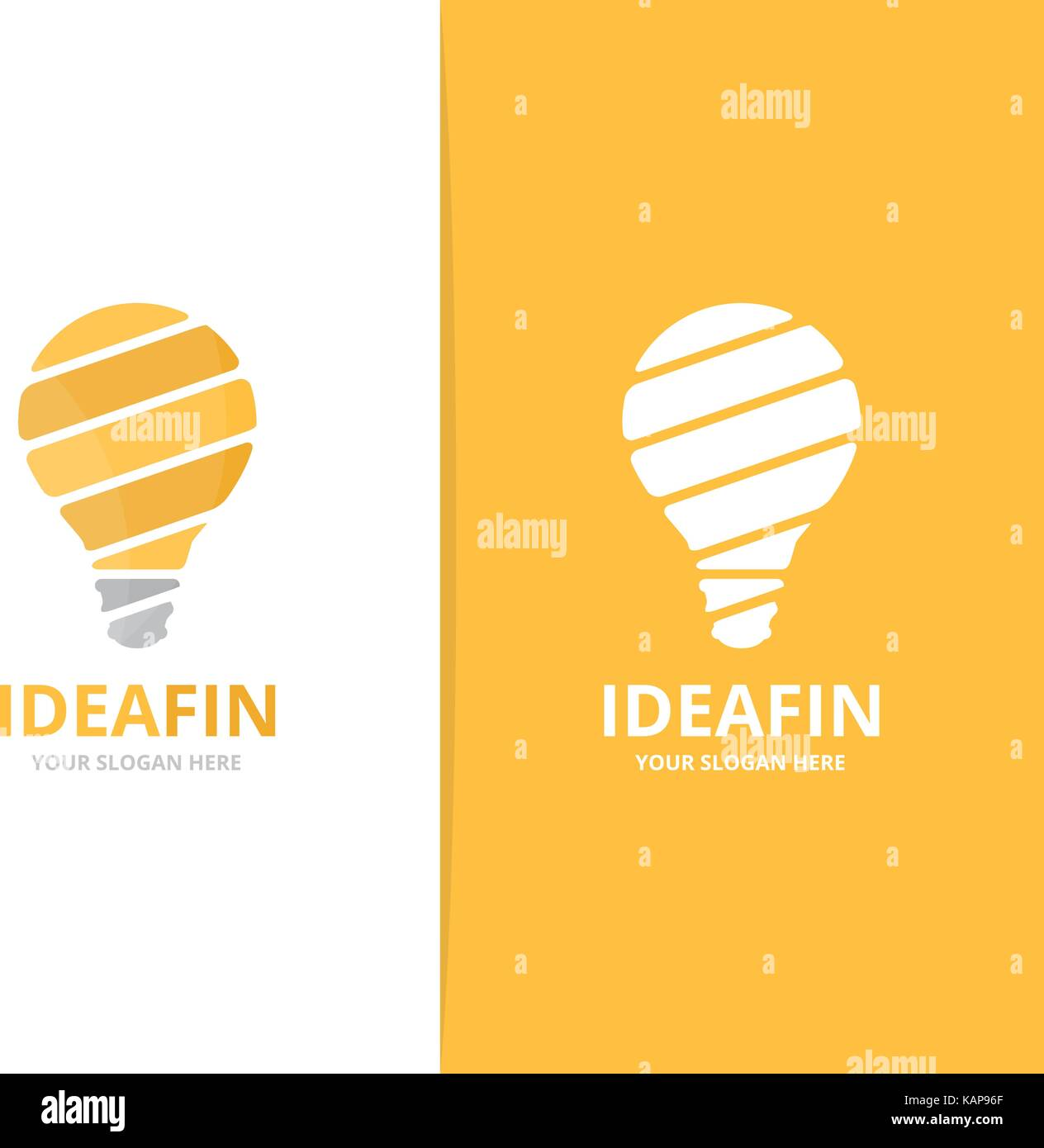 Set Of Hand Drawn Light Bulbs Symbol Of Ideas Stock: Light Bulb Logo Stock Photos & Light Bulb Logo Stock