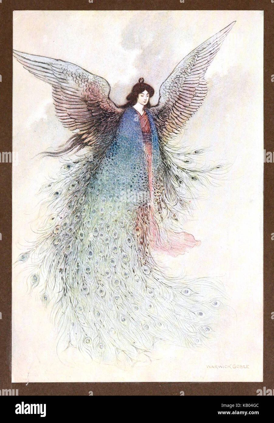 The Moon Maiden, by Warwick Goble - Stock Image