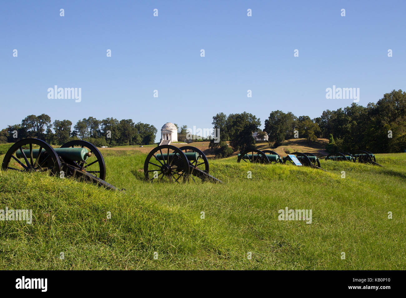 Cannons on the Vicksburg Battlefield - Stock Image