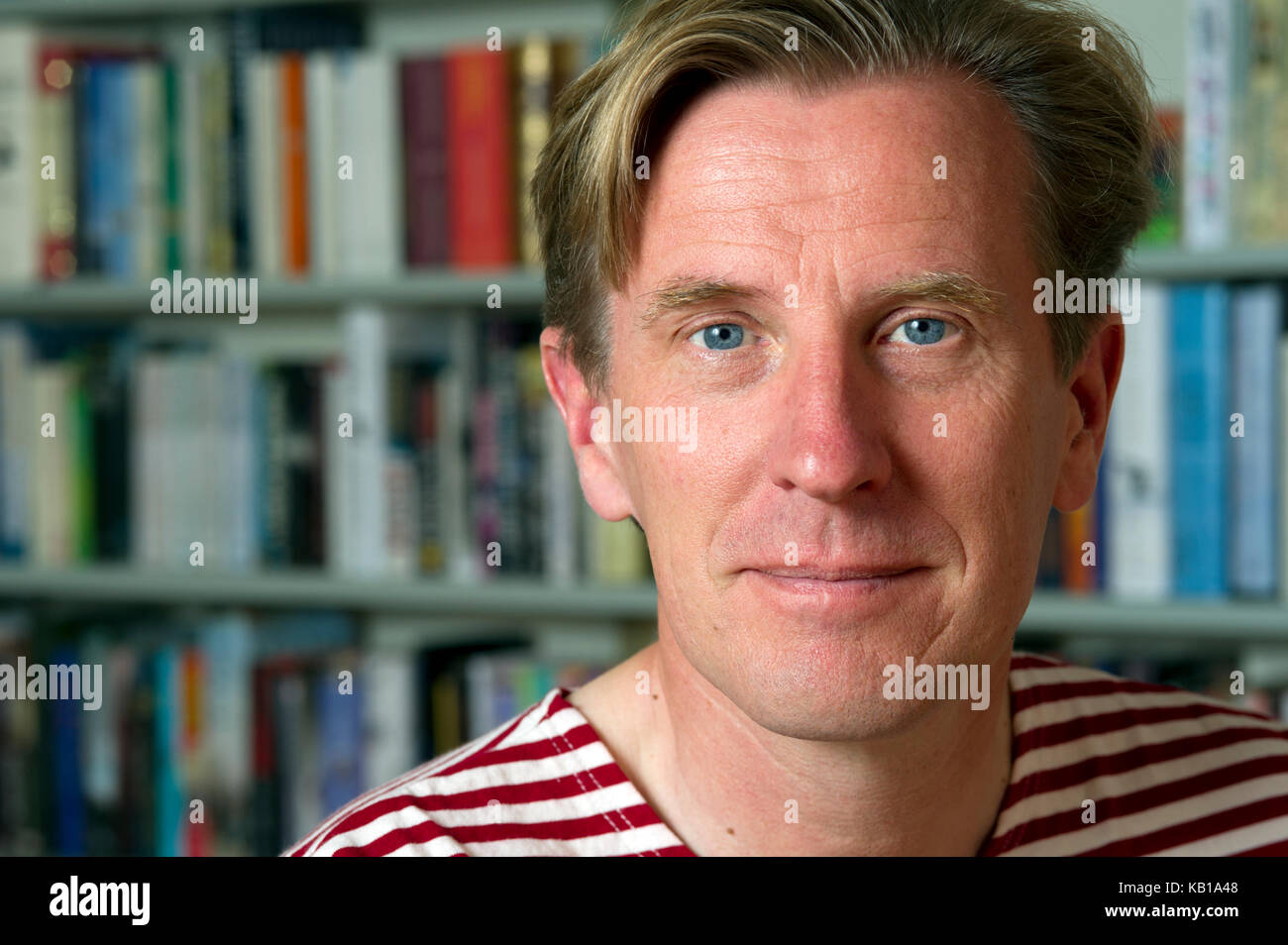 Childrens author Phillip Reeve at his home in Devonshire, UK - Stock Image