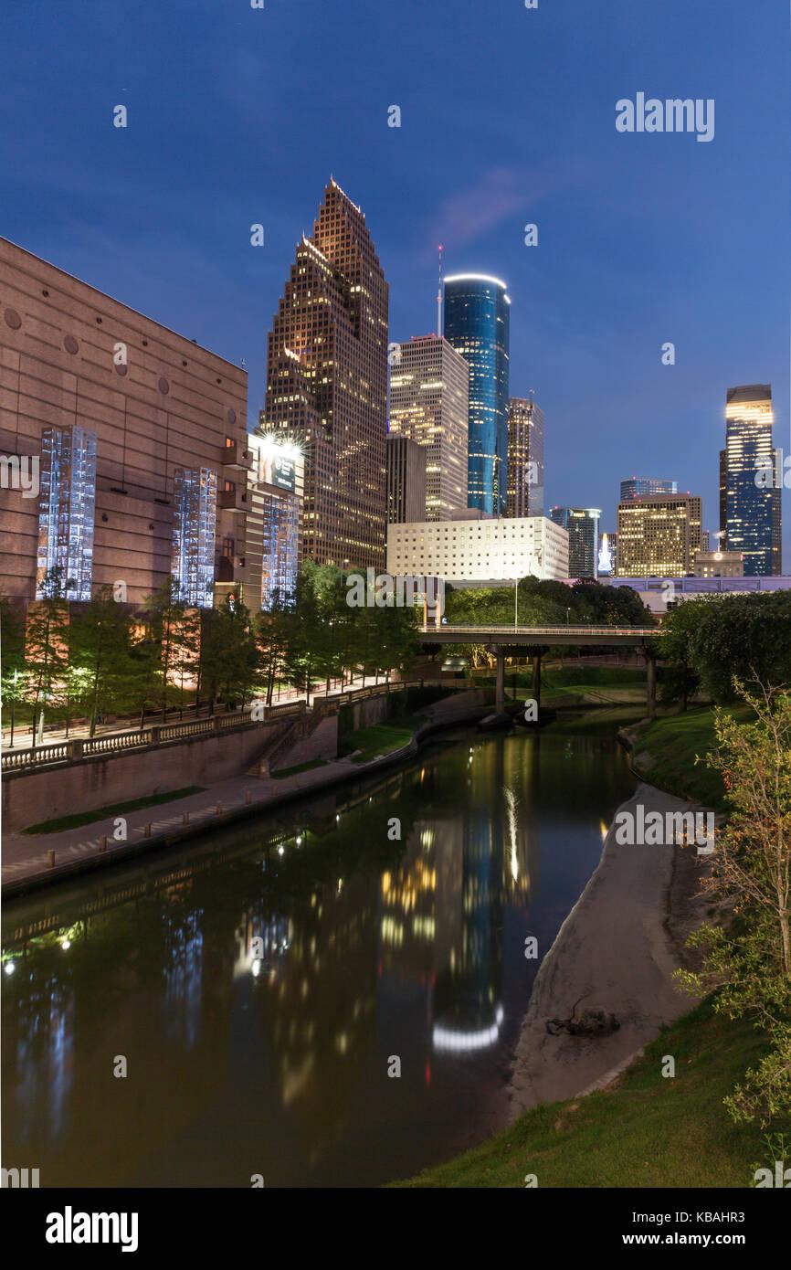 Houston downtown skylines - Stock Image