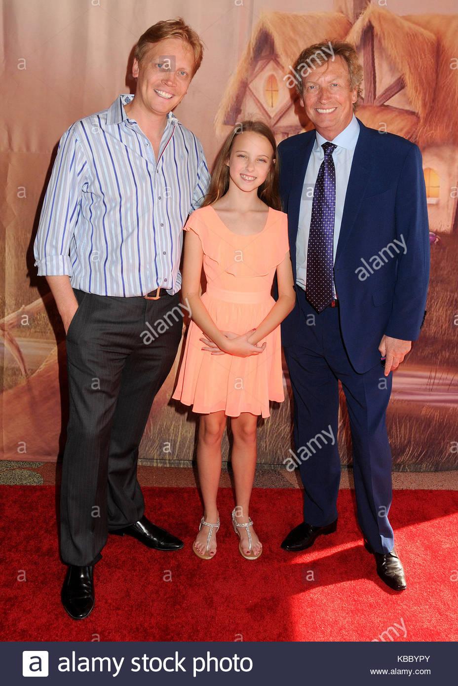 Simon Lythgoe, Dominique Lythgoe and Nigel Lythgoe. ADM_PRINCESSPIRATES_BP_26 - 18 July 2014 - Culver City, California - Stock Image