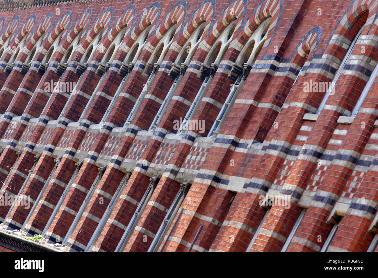 Colourful brickwork in Hockley, Birmingham. Stock Photo