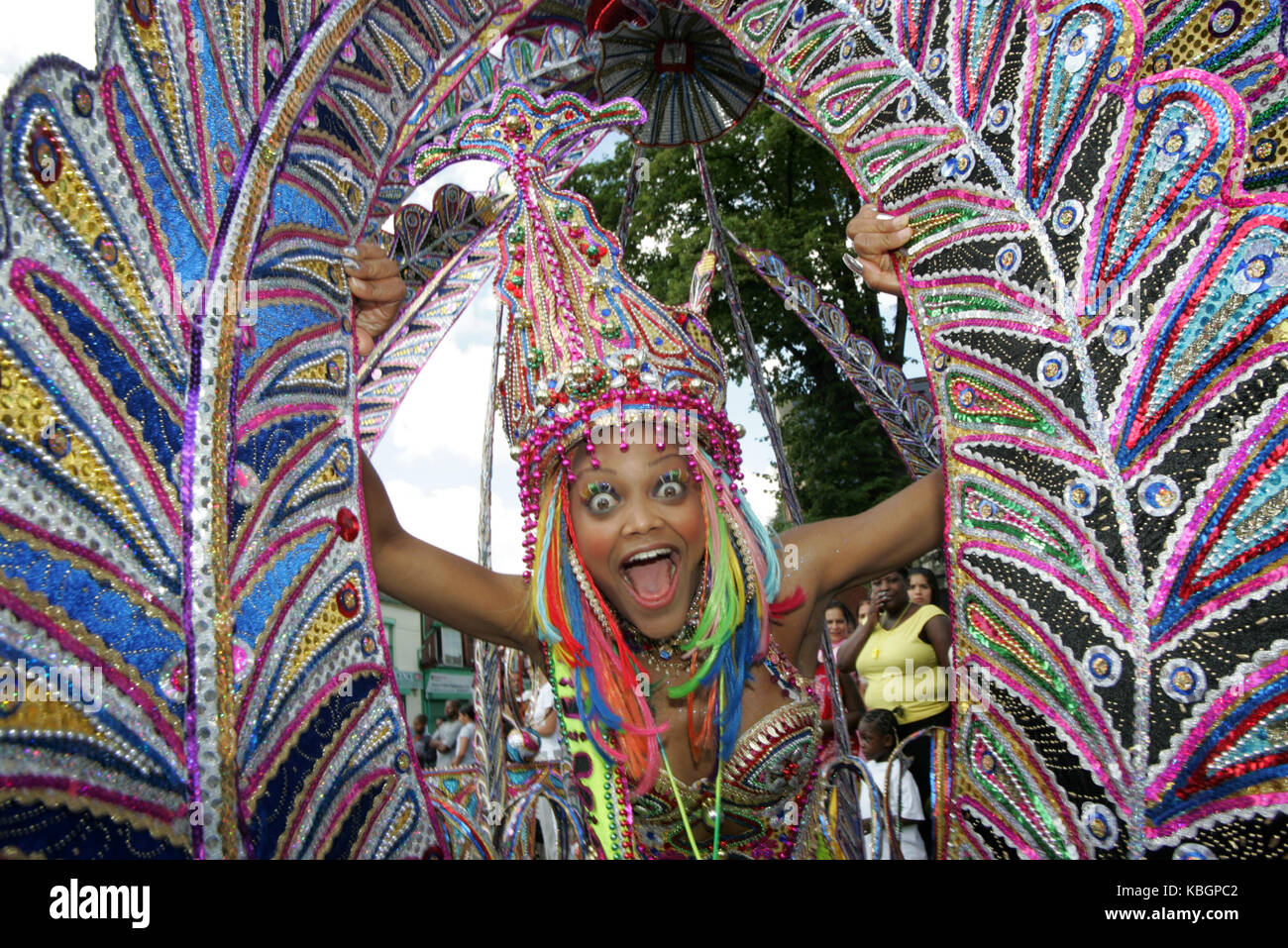 Birmingham Carnival Queen Shantel Ogarro, 7th Aug 2005 Stock Photo