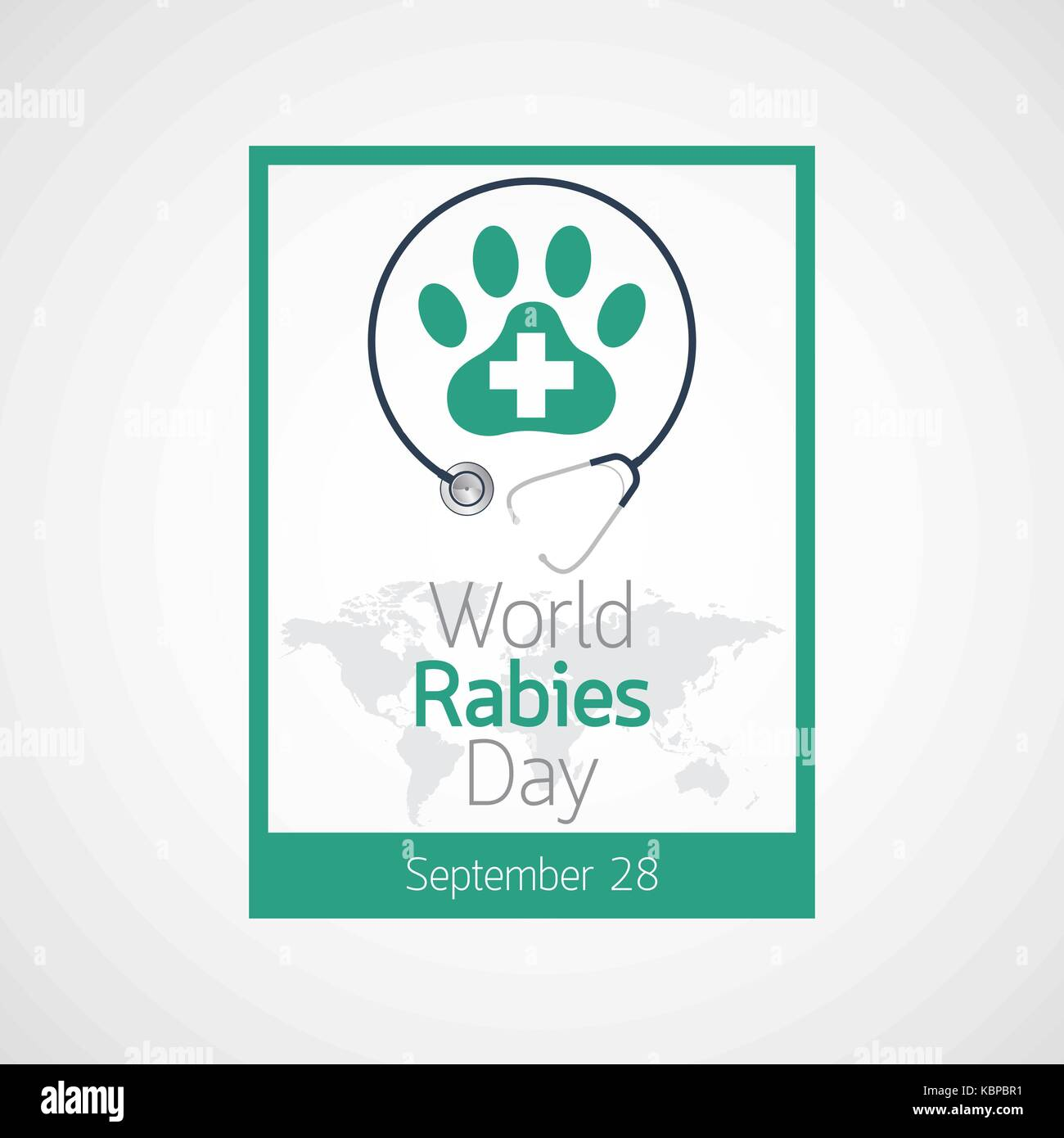 World Rabies Day vector icon illustration - Stock Image