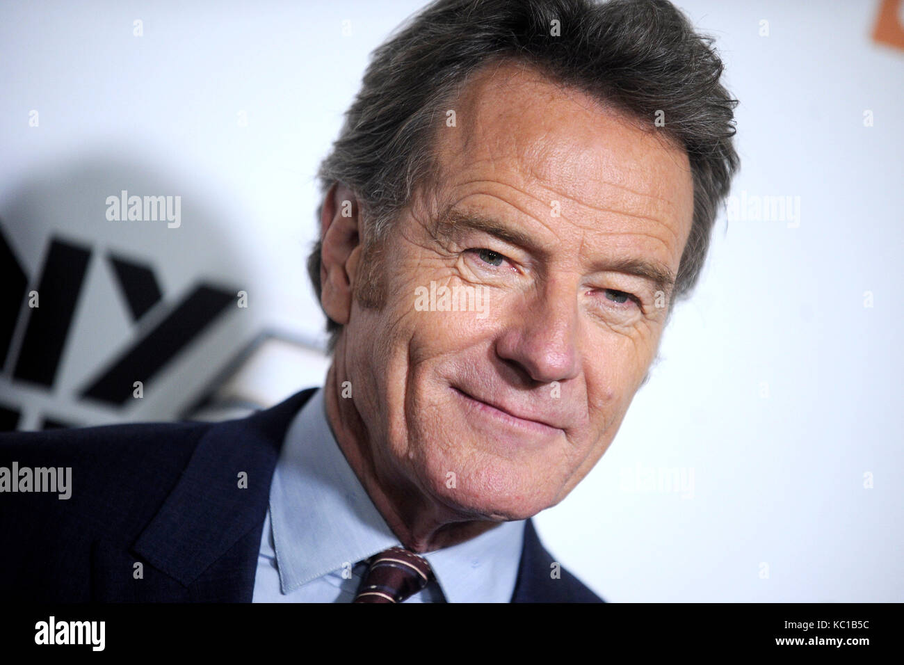 Bryan Cranston attends the 55th New York Film Festival with the 'Last Flag Flying' world premiere at Alice Tully Stock Photo