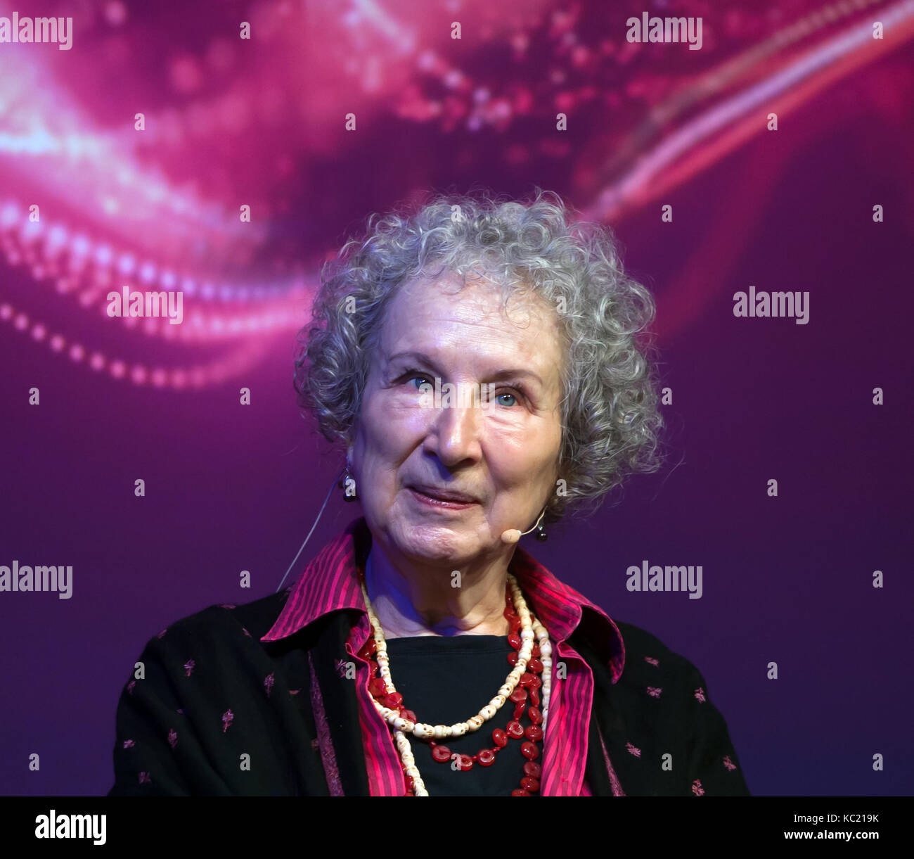 "Margret  Atwood, author of   ""The Handmaid's Tale"", talks to Caroline Edwards about the scientific background to Stock Photo"
