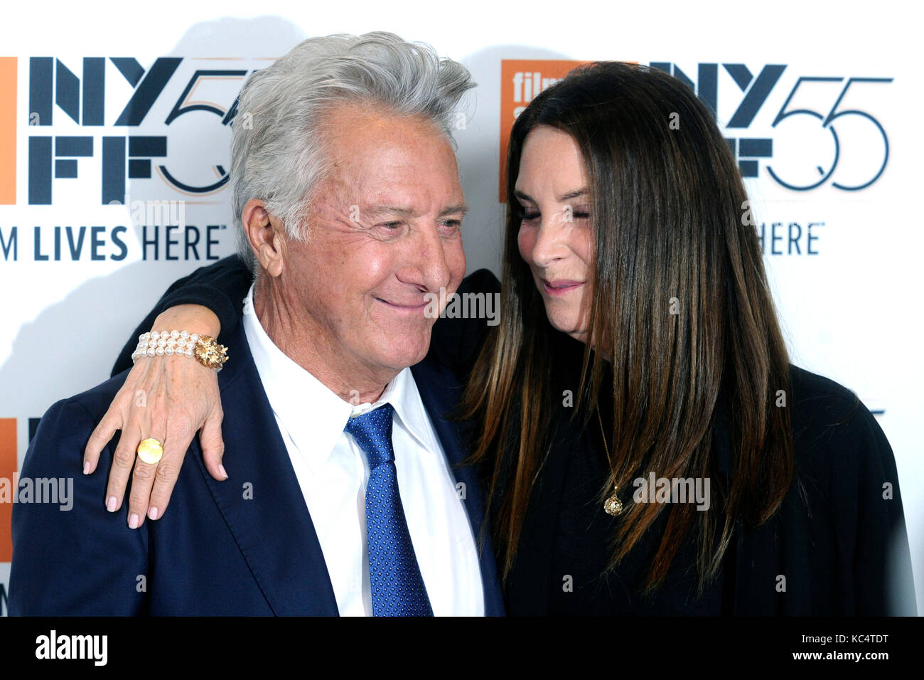 Dustin Hoffman and his wife Lisa attend 'The Meyerowitz Stories' premiere during the 55th New York Film Festival Stock Photo