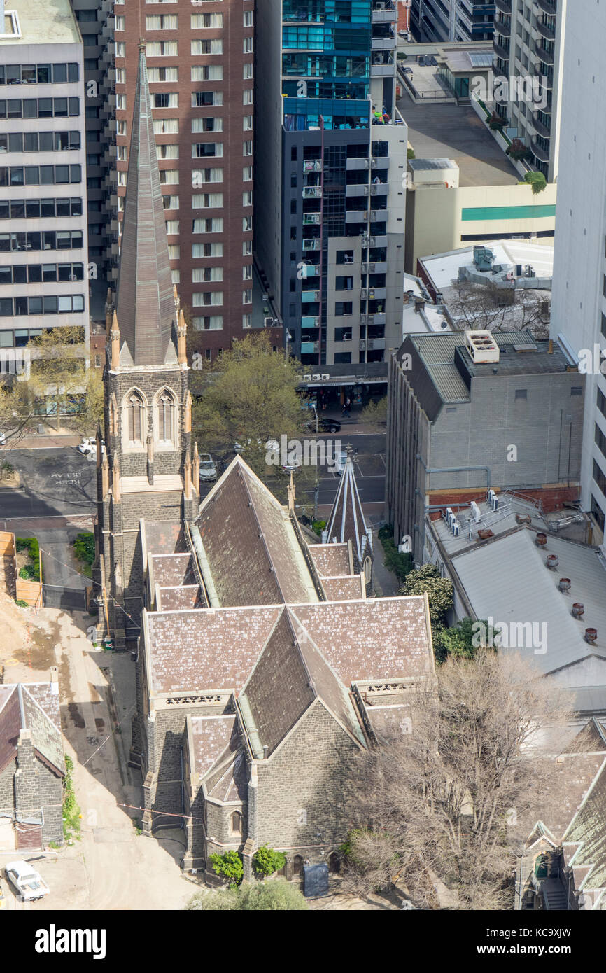 Wesley Uniting Church on Lonsdale Street, Melbourne, Victoria, Australia. - Stock Image