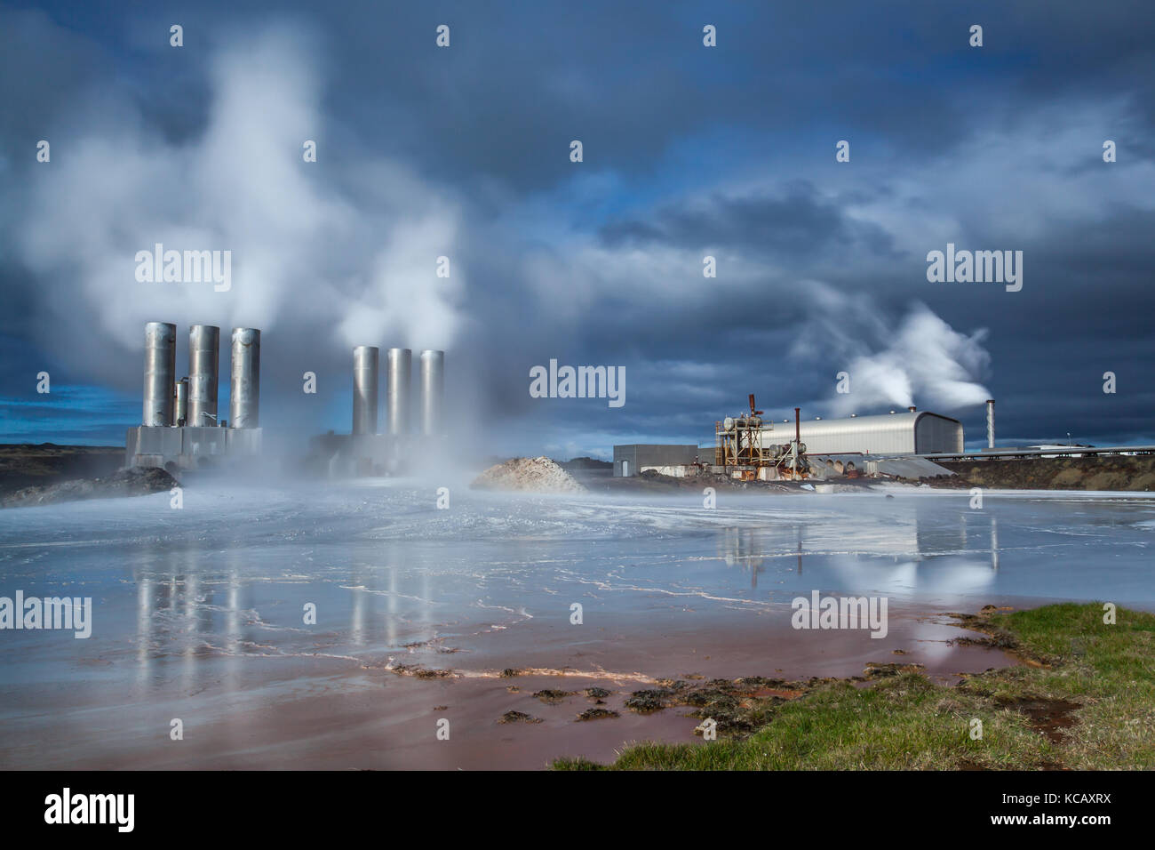 Geothermal Power Plant - Stock Image