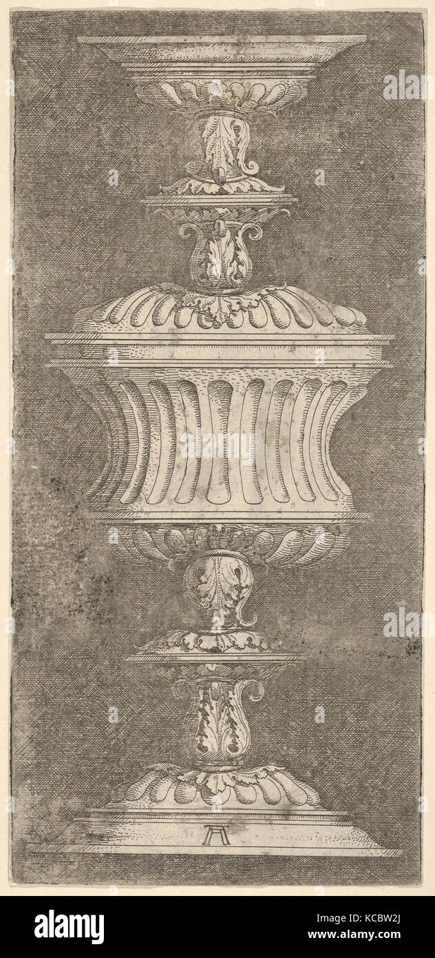 Double Goblet with Flutes and Acanthus-Leaves, Albrecht Altdorfer - Stock Image