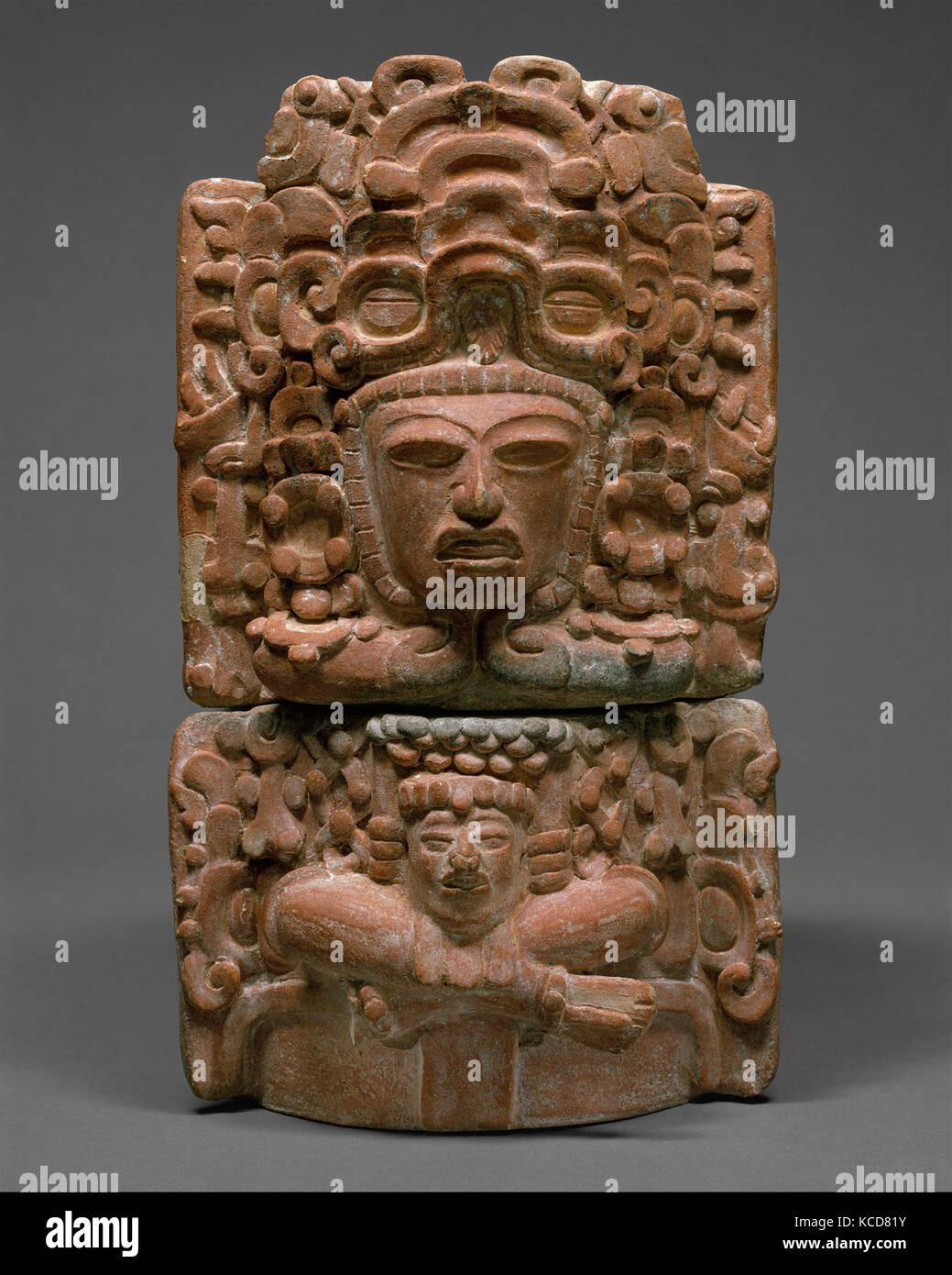 Seated Figure Censer (Incensario), 5th–6th century, Guatemala, Mesoamerica, Maya, Ceramic, H. 14 3/4 in. (37.5 cm), - Stock Image