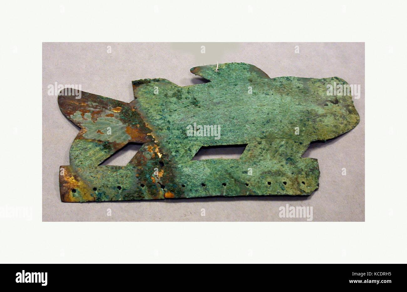 Ornamental Fish, 1st century B.C.–A.D. 7th century, Peru, Moche, Copper, H. 2 15/16 x W. 5 3/8 in. (7.4 x 13.7 cm), - Stock Image