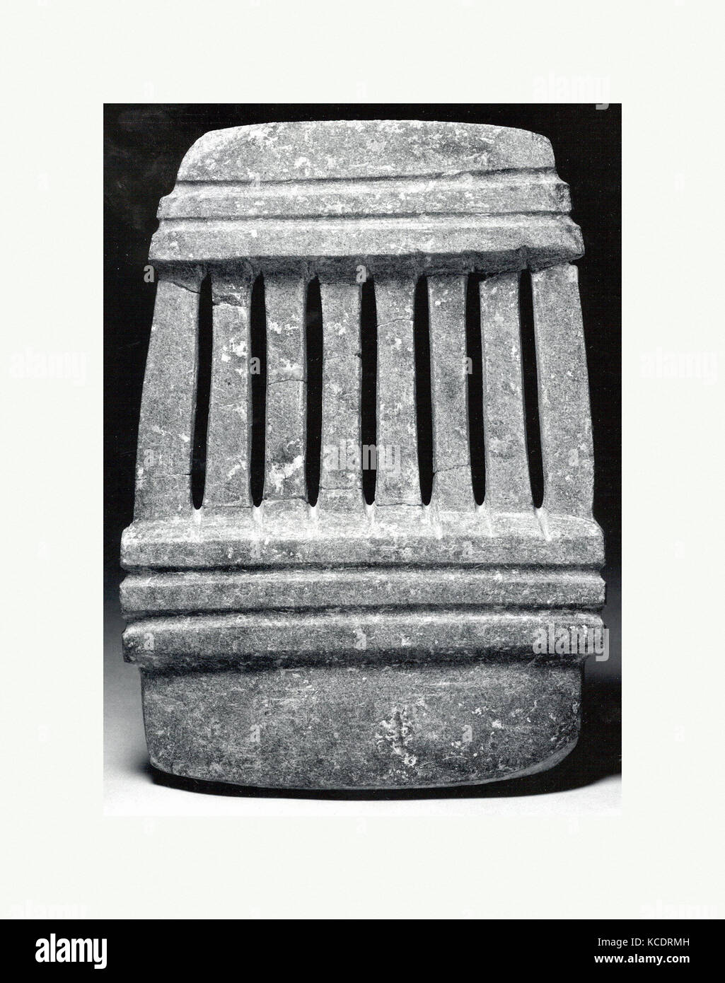 Temple Model, 1st–8th century, Mexico, Mesoamerica, Guerrero, Balsas River region, Mezcala, Stone, H. 8 1/4 x W. - Stock Image