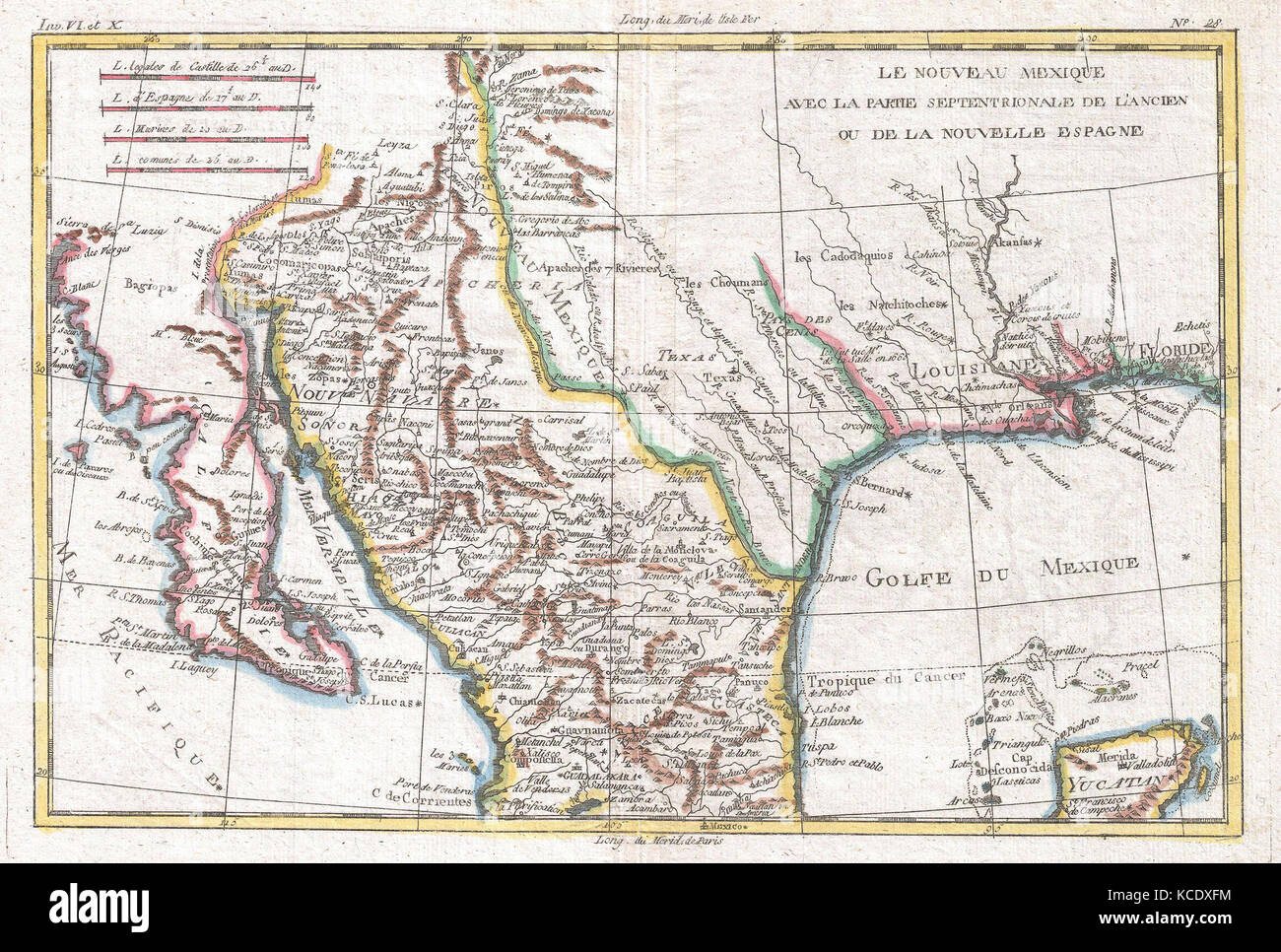 Mexico Map 1794.1780 Raynal And Bonne Map Of Mexico And Texas Rigobert Bonne 1727
