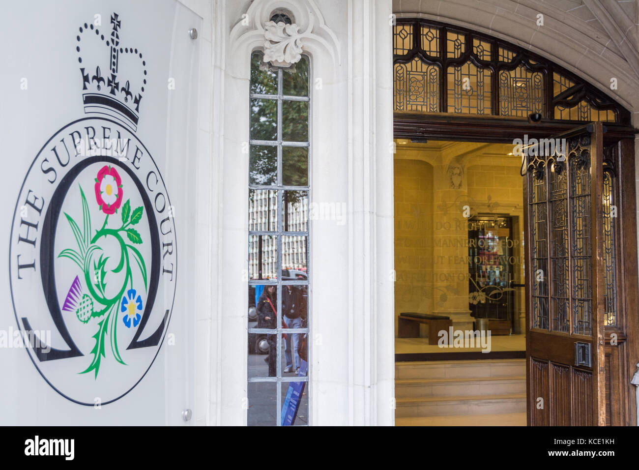 The exterior of the Supreme Court of the United Kingdom in Parliament Square, London, UK Stock Photo