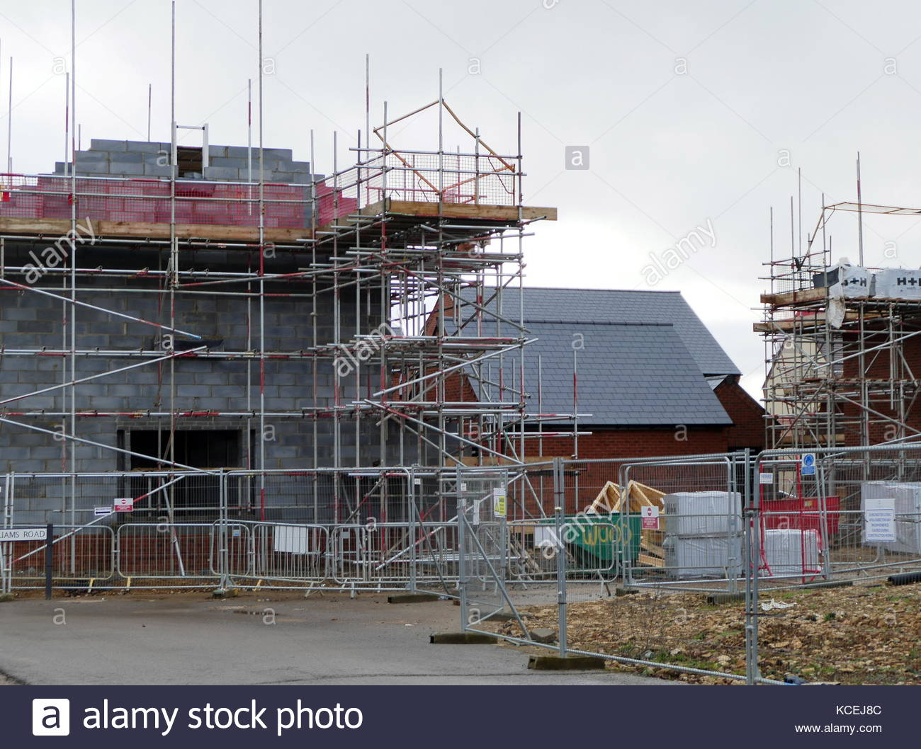 Housing construction in the United Kingdom against a background of a collapse in house buying after Brexit referendum - Stock Image