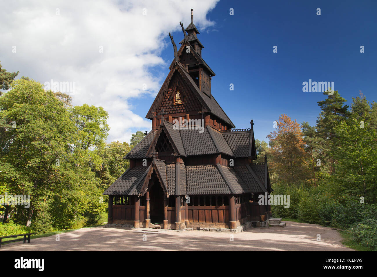 Gol Stave Church in Olso, Norway. - Stock Image