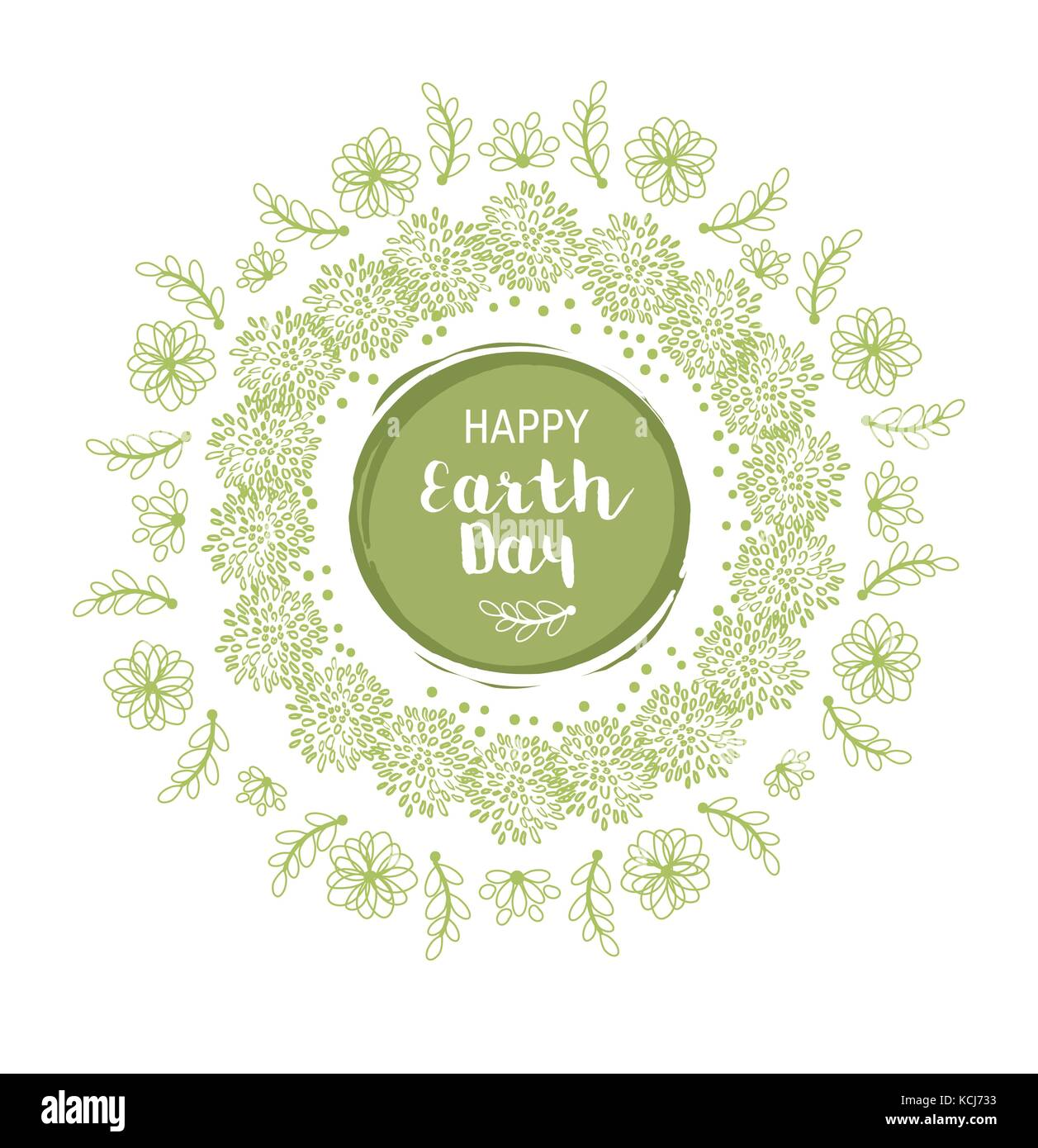 Happy Earth day illustration - Stock Image