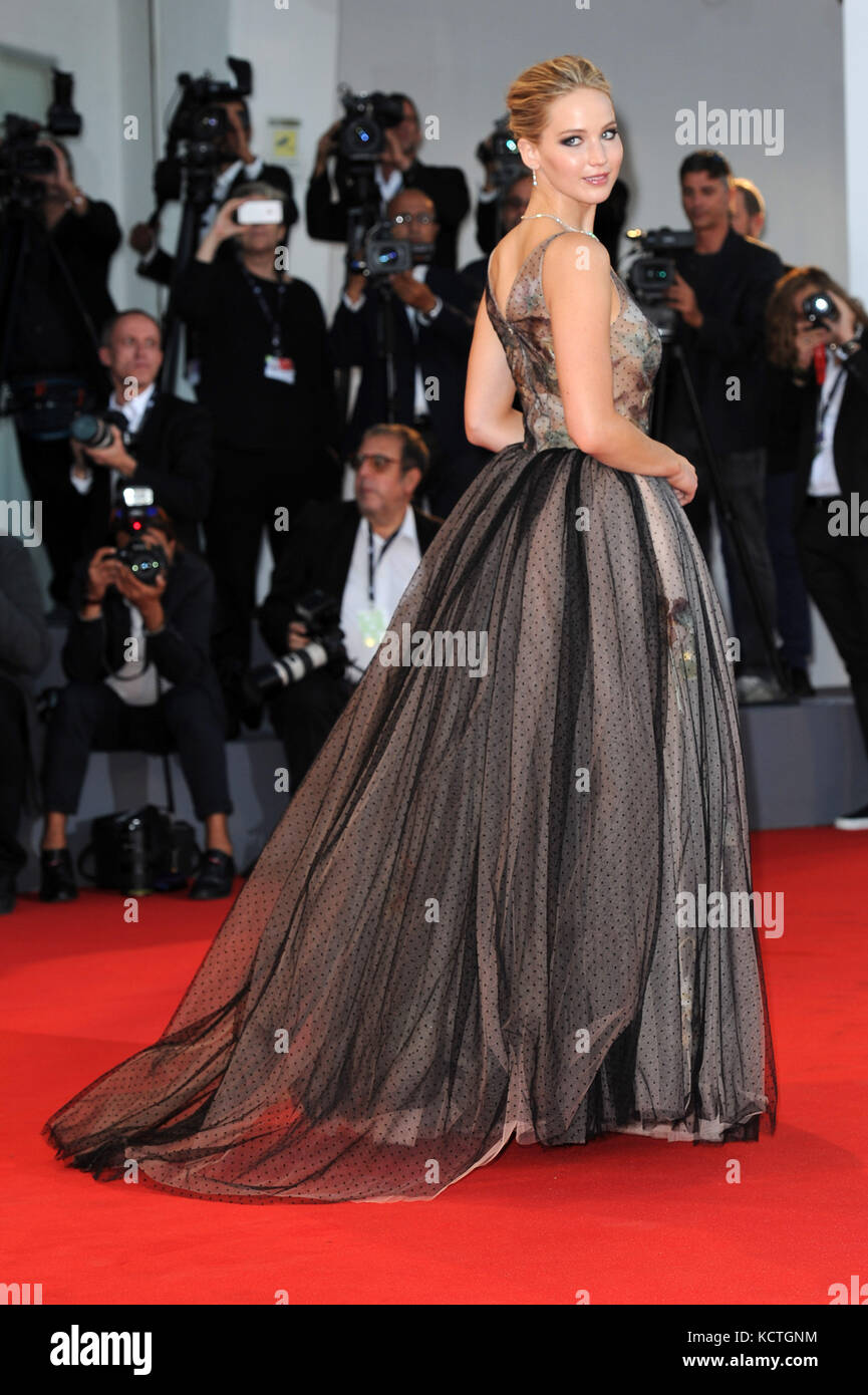 74th Venice Film Festival - 'Mother!' - Premiere  Featuring: Jennifer Lawrence Where: Venice, Italy When: 05 - Stock Image