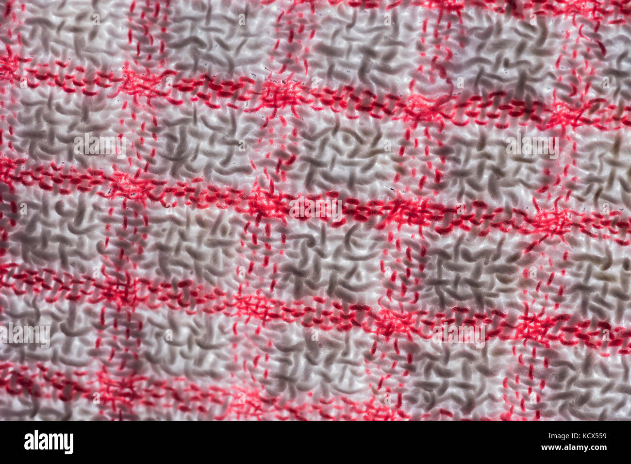Macro-photo of the threads of a teacloth. - Stock Image