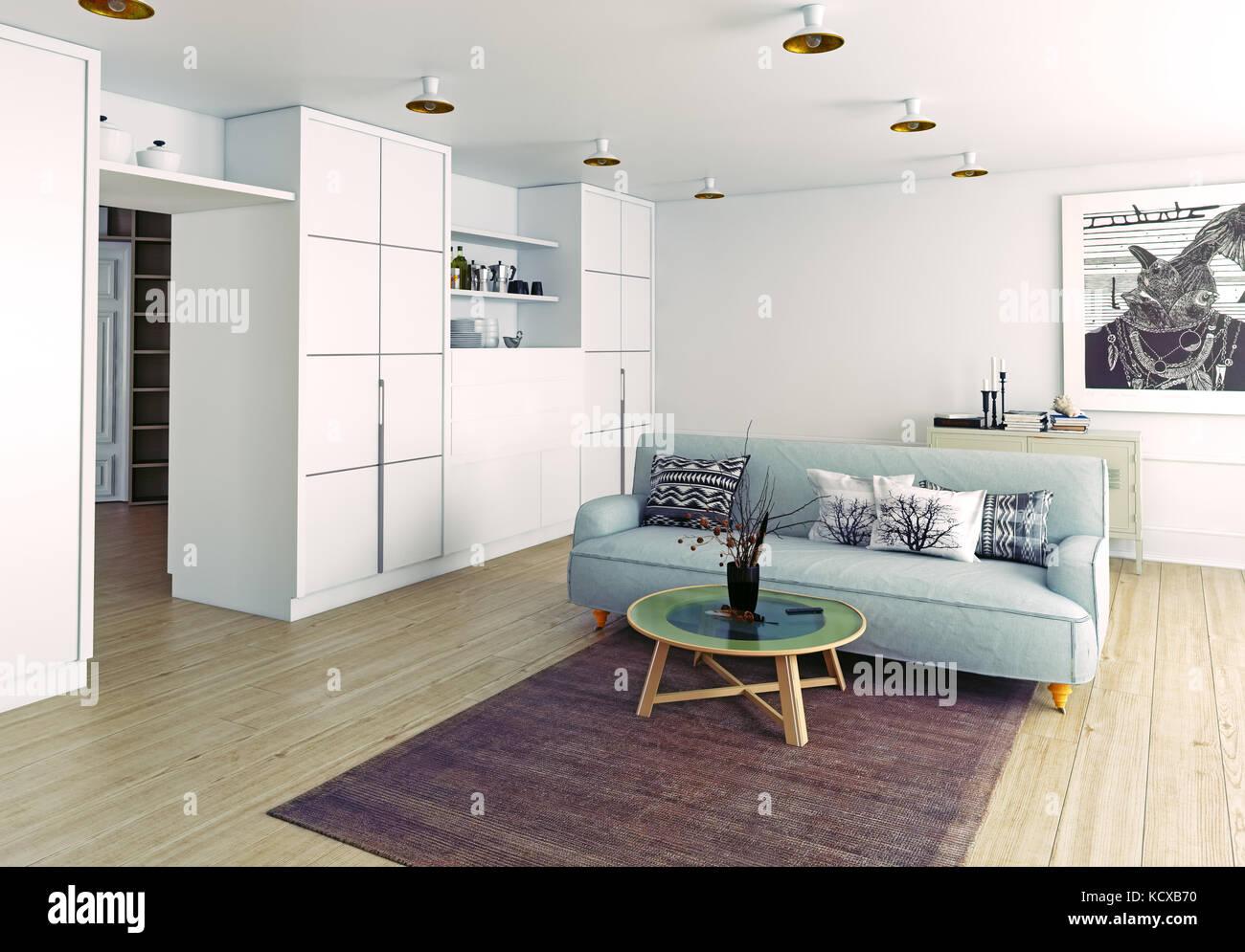 modern living room interior. 3d rendering Stock Photo: 162848756 - Alamy
