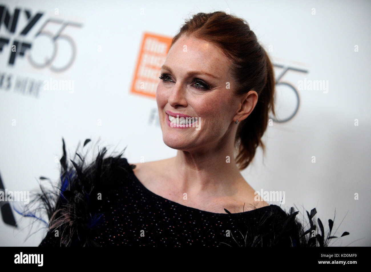 Julianne Moore attends the 'Wonderstruck' premiere during the 55th New York Film Festival at Alice Tully Hall on Stock Photo