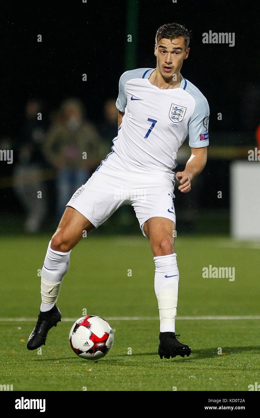 Vilnius, Lithuania. 8th Oct, 2017. Harry Winks of England during the FIFA World Cup 2018 Qualifying Group F match - Stock Image