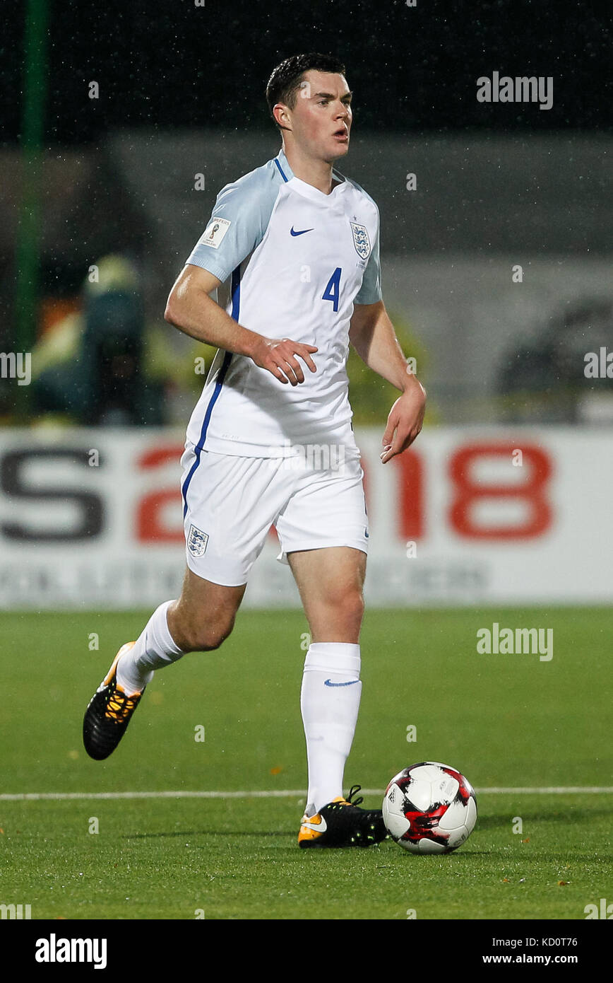 Vilnius, Lithuania. 8th Oct, 2017. Michael Keane of England during the FIFA World Cup 2018 Qualifying Group F match - Stock Image