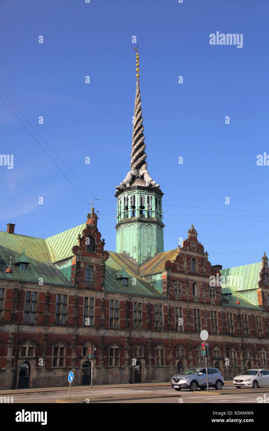 the old stock exchange or borsen copenhagen denmark - Stock Image