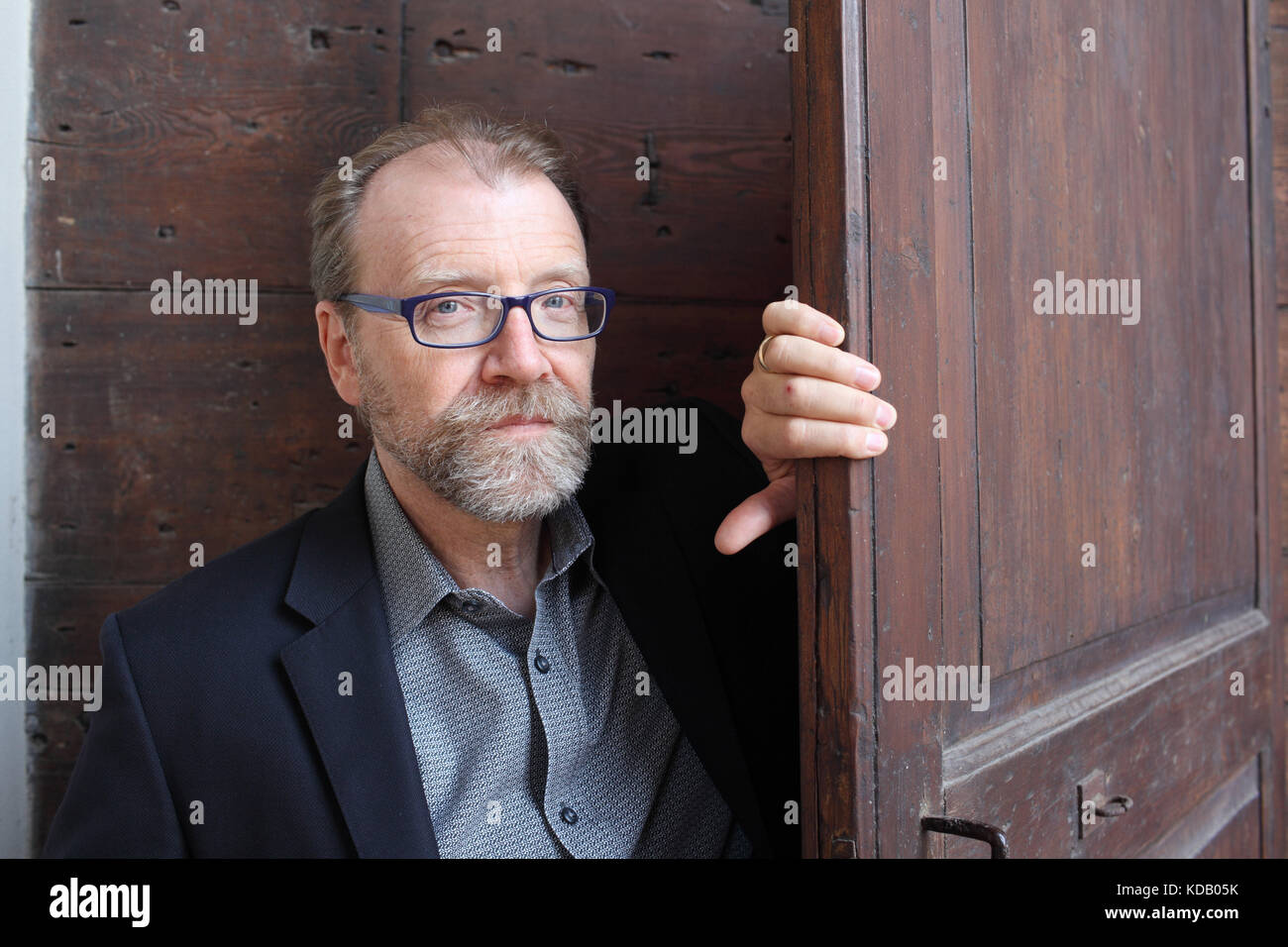 Portrait of George Saunders 13/09/2017 ©Basso CANNARSA/Opale Stock Photo
