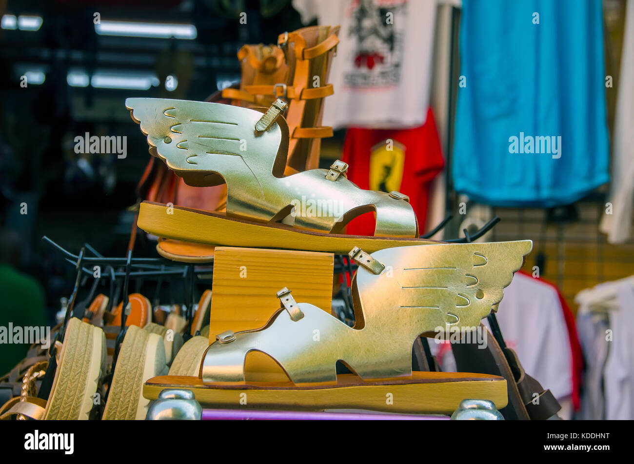 3d7bf36a40c9 Argostoli Greece Lithostroto Pedestrian Mall winged sandals of Greek god  Hermes