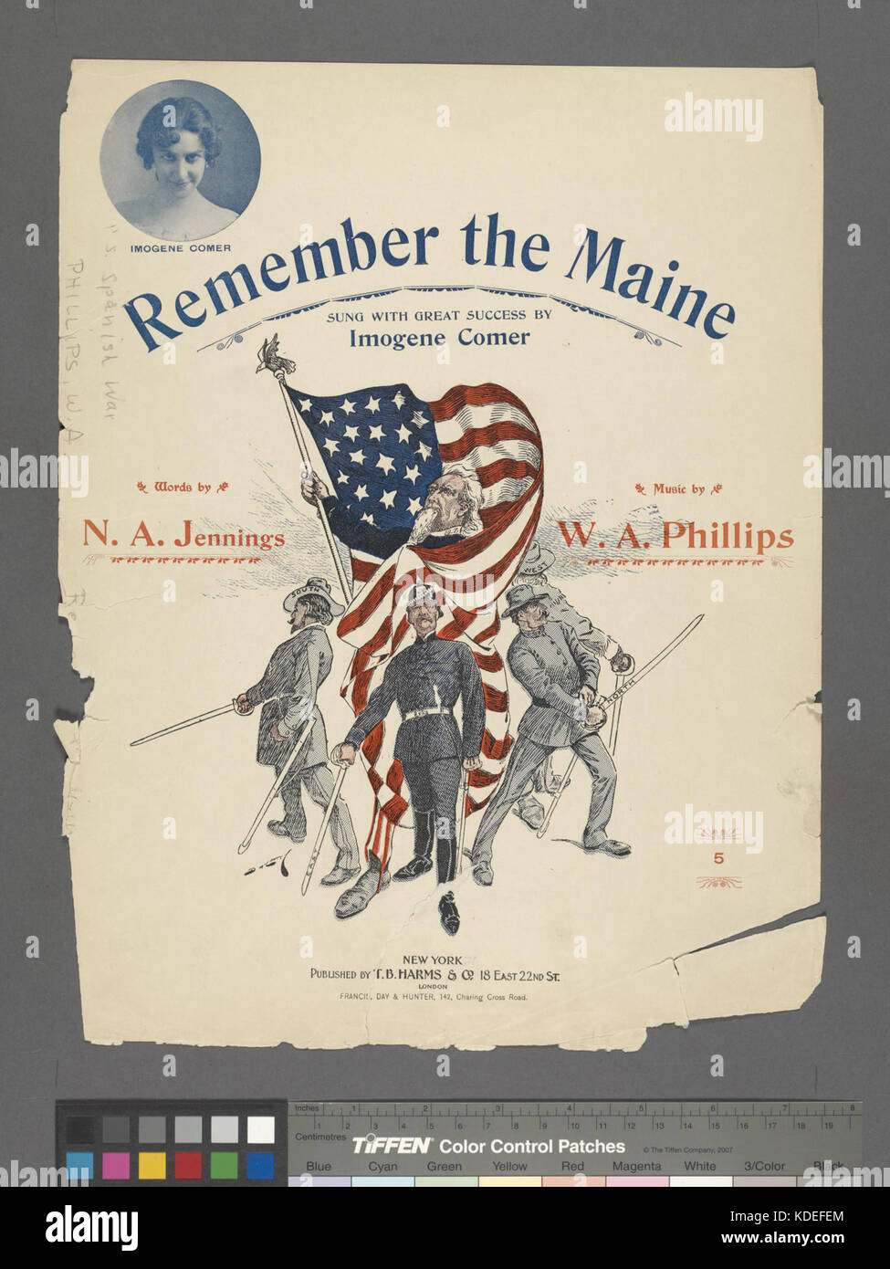 Remember the Maine (NYPL Hades 667925 1269171) Stock Photo