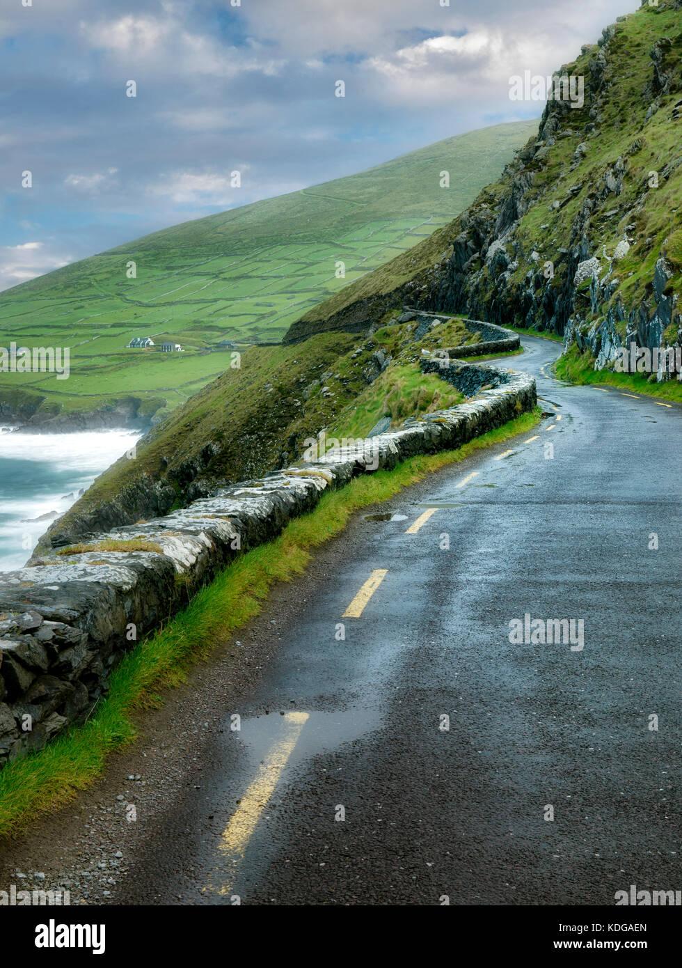 Slea Head road. County Kerry, Ireland - Stock Image
