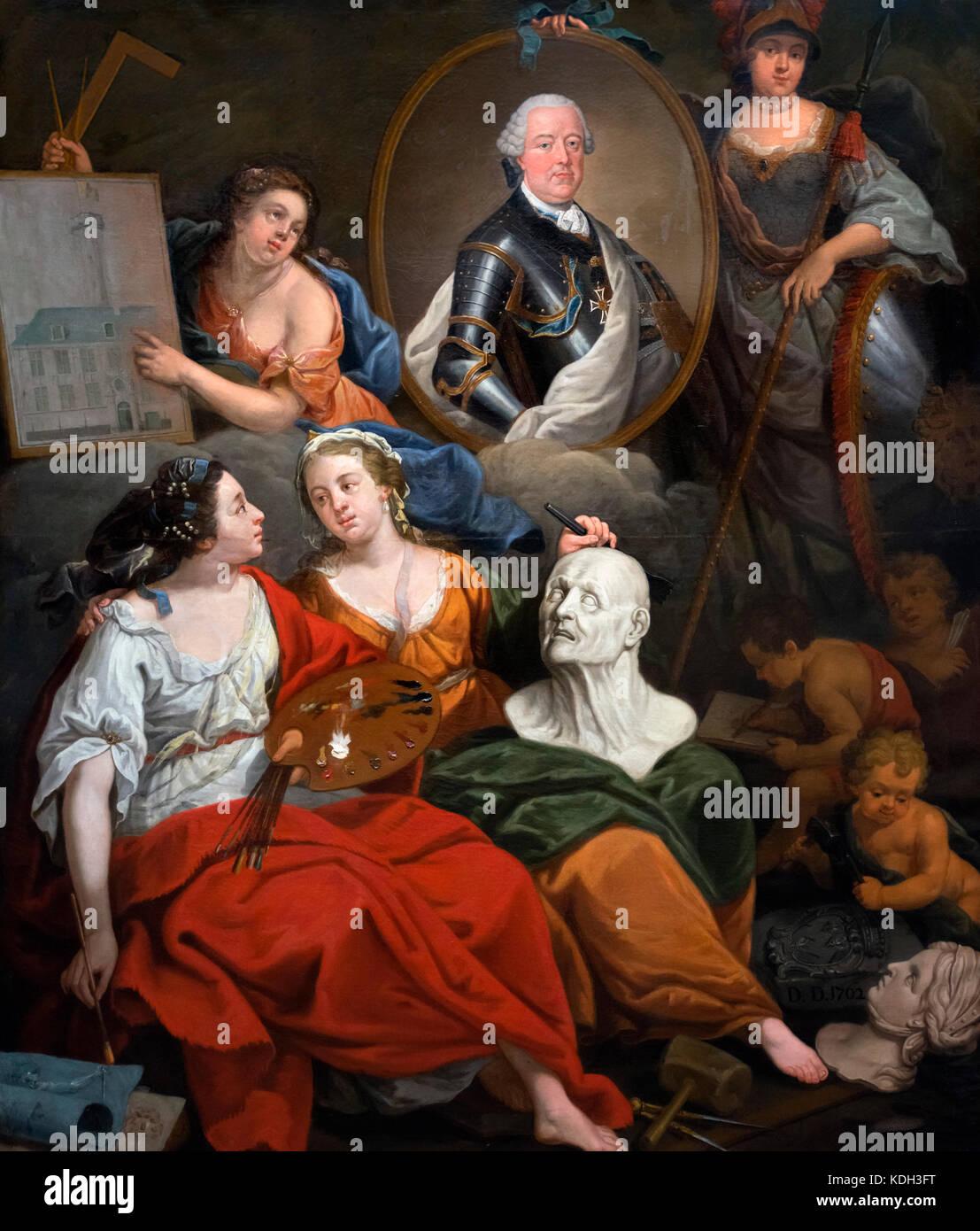 Charles of Lorraine as Patron of the Arts (Karel van Lotharingen als Beschermeer van de Kunsten) by Matthias de - Stock Image