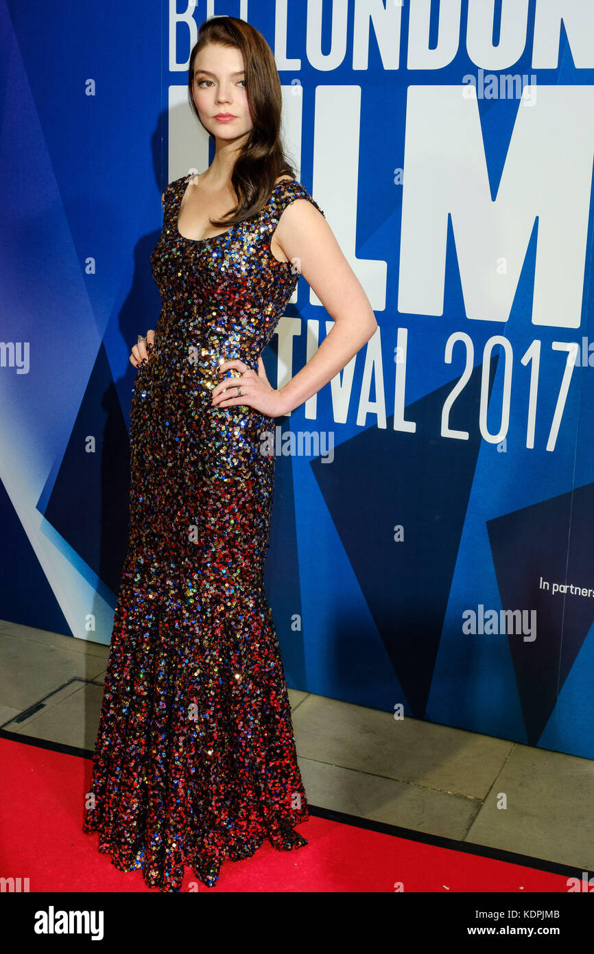 London, UK. 14th October, 2017. Anya Taylor-Joy at the Festival Awards Dinner for the  London Film Festival at Banqueting - Stock Image