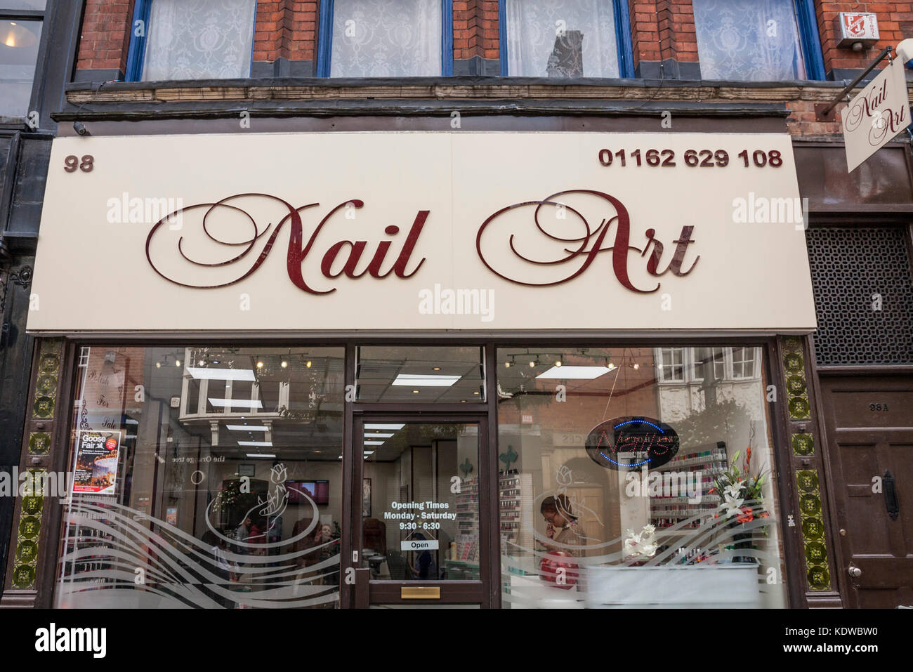Nail Art shop in Leicester,England,UK Stock Photo: 163441964 - Alamy