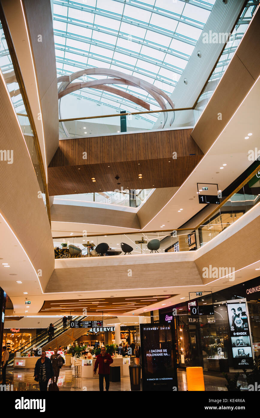 Wroclaw, Poland, October 18, 2017 : first day of the new shopping center Wroclavia in Wroclaw, Poland - Stock Image