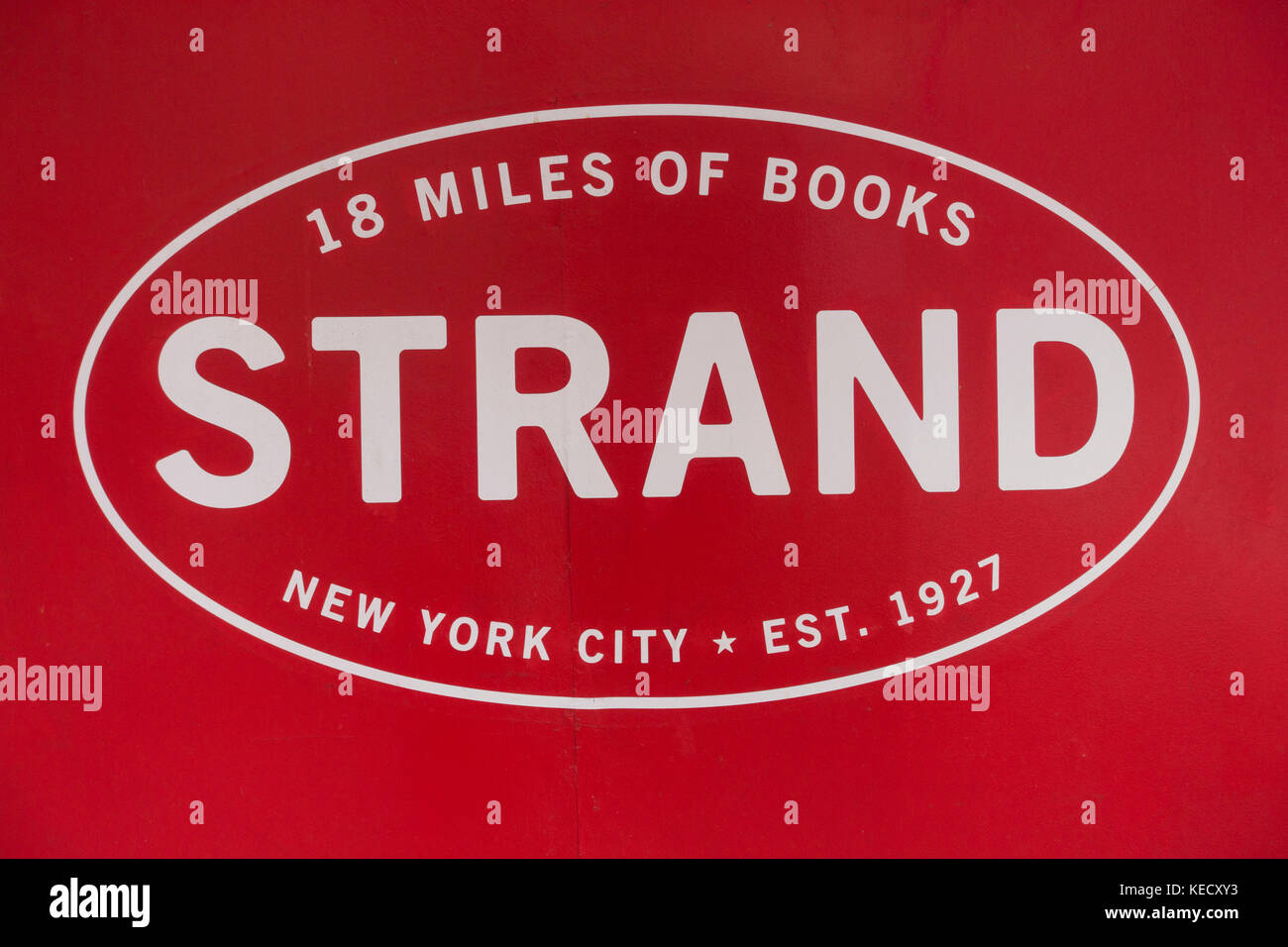 strand bookstore in midtown nyc - Stock Image