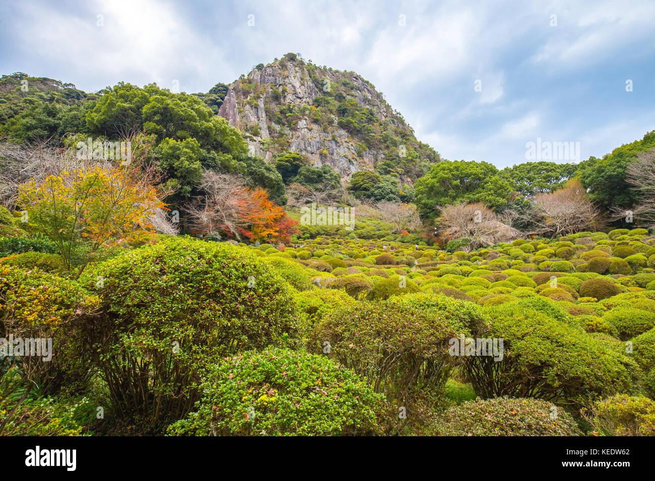 View of Mifuneyama Gardens in Saga, Japan. - Stock Image