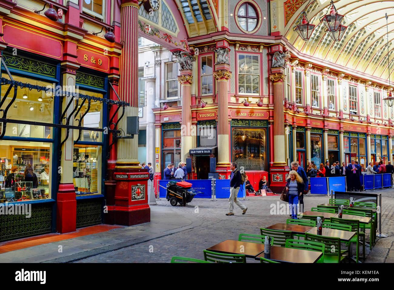 Leadenhall Market, City of London, London, England, United Kingdom, Europe - Stock Image